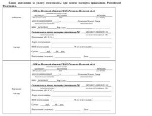 Квитанция На Оплату Госпошлины По Замене Паспорта Рф