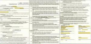 Пример трудового договора с работником заполненный