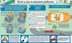 Правила перевозки детей 6 лет в автомобиле