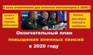 Изменения В Пенсионном Обеспечении Военнослужащих В 2020 Году