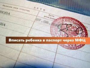 Какие Документы Нужны Чтобы Вписать В Паспорт Ребенка
