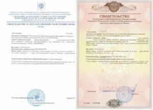 Свидетельство о регистрации права как выглядит