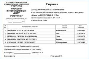 Где Получить Справку О Составе Семьи В Кирове