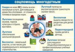 Какие льготы положены многодетным семьям в ростовской области