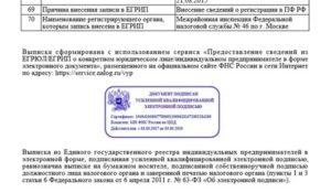 Выписка из егрюл с электронной цифровой подписью