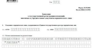 Правила заполнения формы р13001 в 2020 году