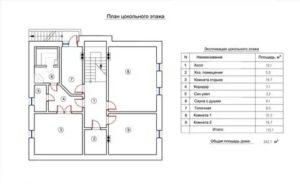 Цокольный этаж входит в общую площадь дома
