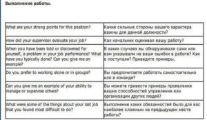 Собеседование при приеме на работу диалог