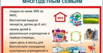 Какие льготы имеет многодетная семья в омской области