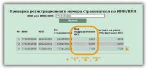 Проверка регистрационного номера страхователя по инн кпп