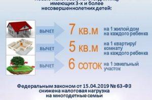 Налоговые льготы для многодетных в московской области в 2019