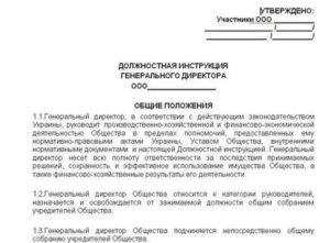 Должностные обязанности генерального директора строительной компании