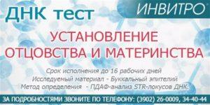 Инвитро Днк Тест На Отцовство Цена В Москве